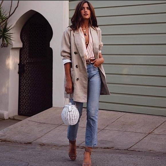 c4959202722e Zara Jackets & Coats   Nwt Double Breasted Sand Linen Blazerdress ...